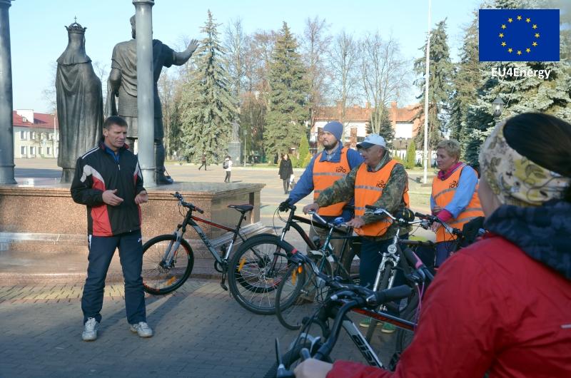 Открытие велодорожки в Кобрине